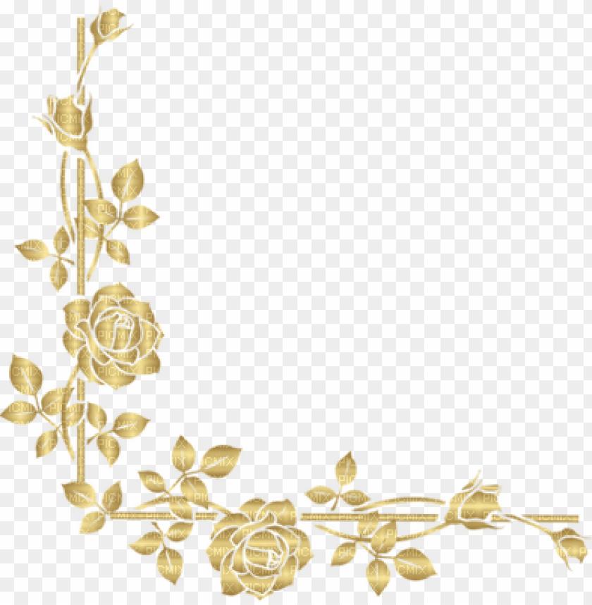 free PNG rose gold border png clip art free download - gold rose border PNG image with transparent background PNG images transparent