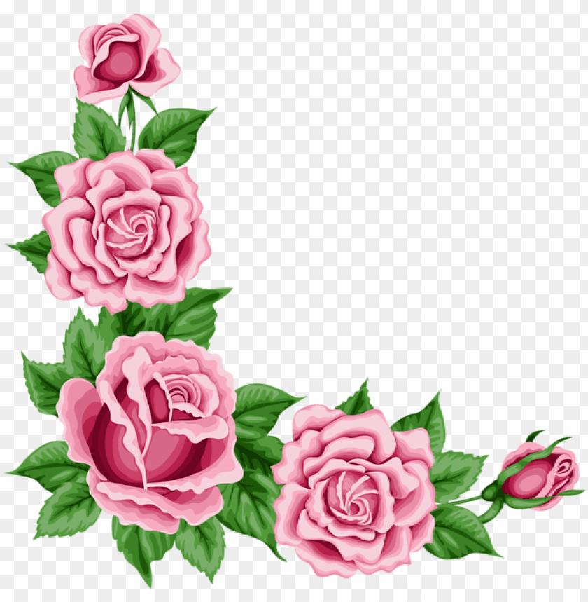 free PNG roses corner border PNG image with transparent background PNG images transparent