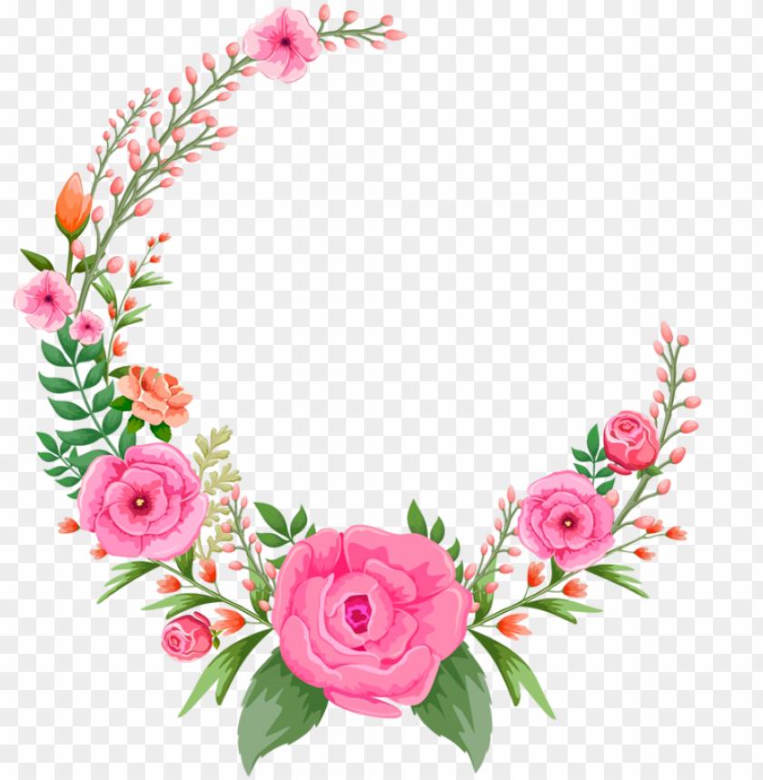free PNG roses rose pinkroses pink flowers flower floral circle - pink flower frame PNG image with transparent background PNG images transparent