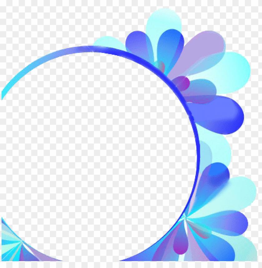 free PNG round floral blue frame - blue floral frame PNG image with transparent background PNG images transparent