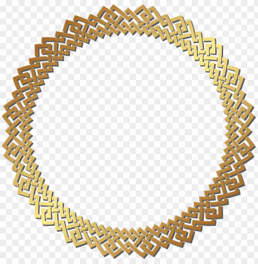 Download round golden border frame clipart png photo  @toppng.com