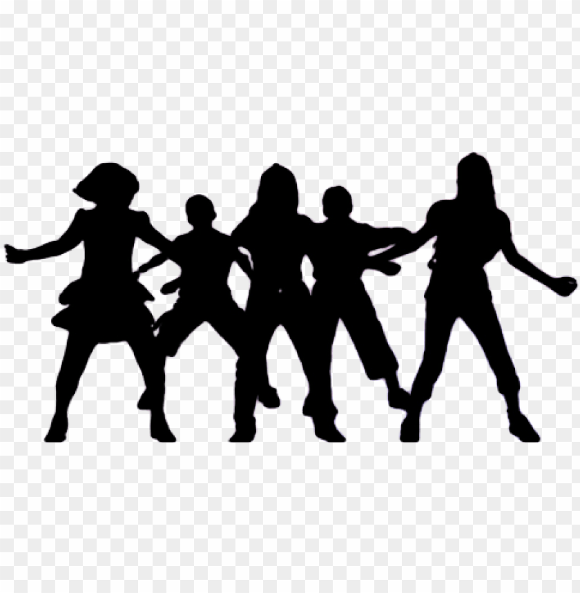 Roup Dancing Silhouette Png Picture Black And White Dance Team Clipart Png Image With Transparent Background Toppng
