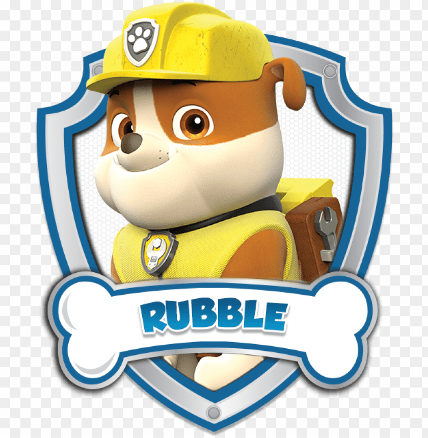 Rubble Paw Patrol Logo 5 By Carolyn Cap N Turbot Paw Patrol Png Image With Transparent Background Toppng