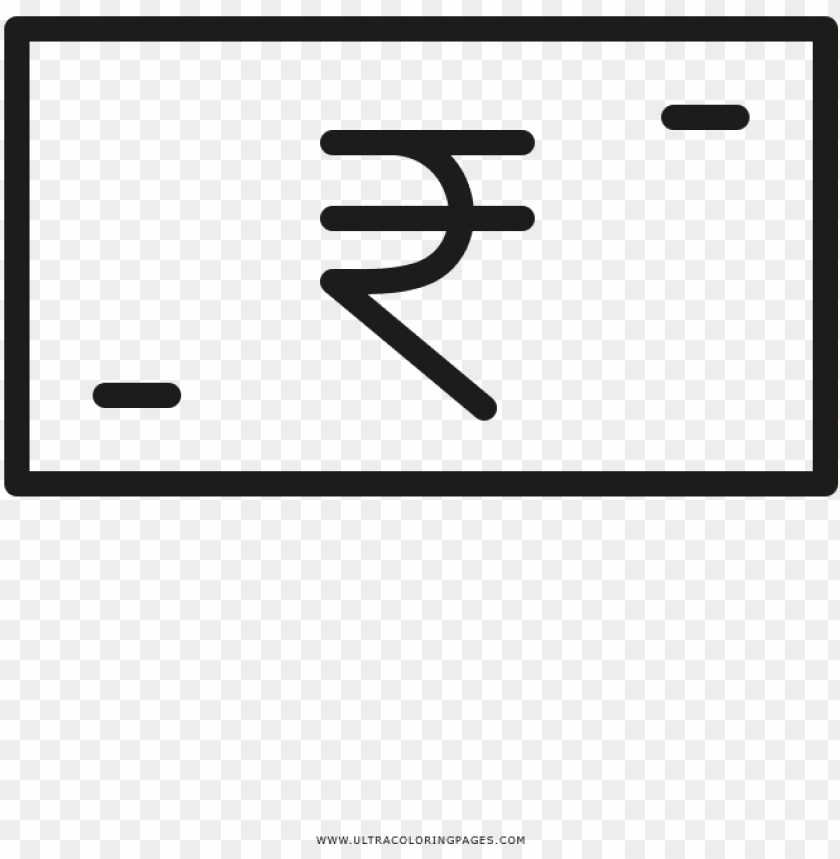 free PNG rupee coloring page - parallel PNG image with transparent background PNG images transparent