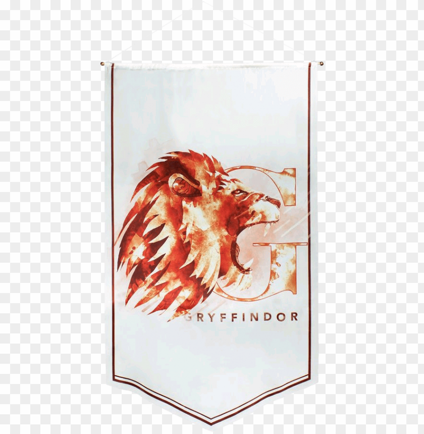 free PNG ryffindor watercolour satin banner - harry potter gryffindor lion poster PNG image with transparent background PNG images transparent