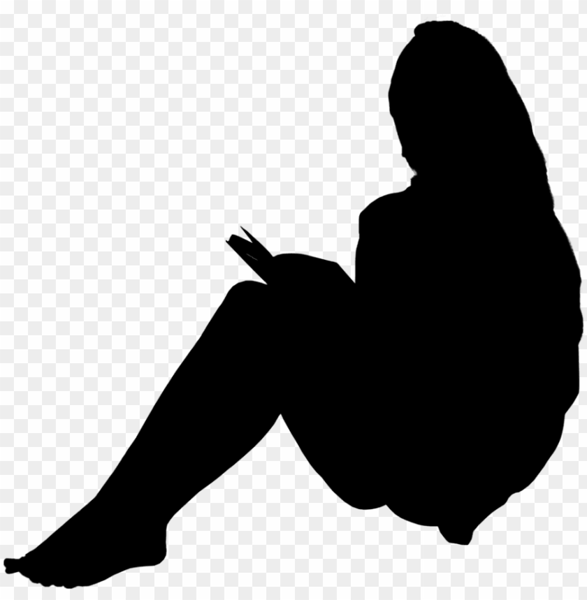 free PNG s 0023 - silhouette people sitting PNG image with transparent background PNG images transparent