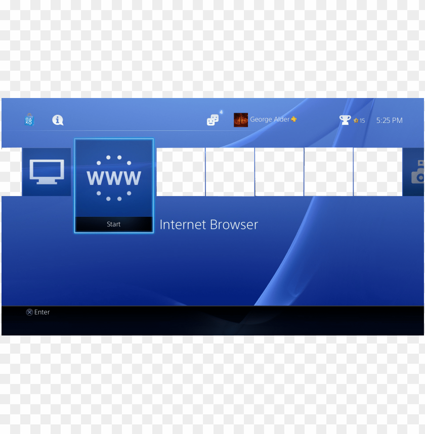 free PNG s4 ui template - playstation 4 PNG image with transparent background PNG images transparent