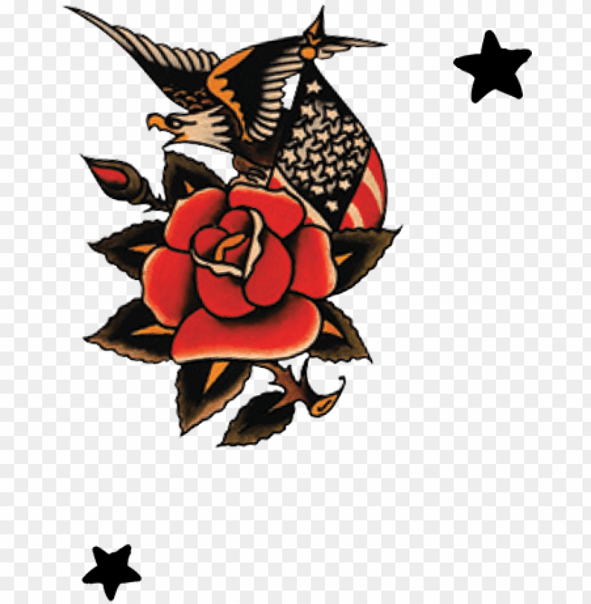 old school rose sailor jerry PNG image