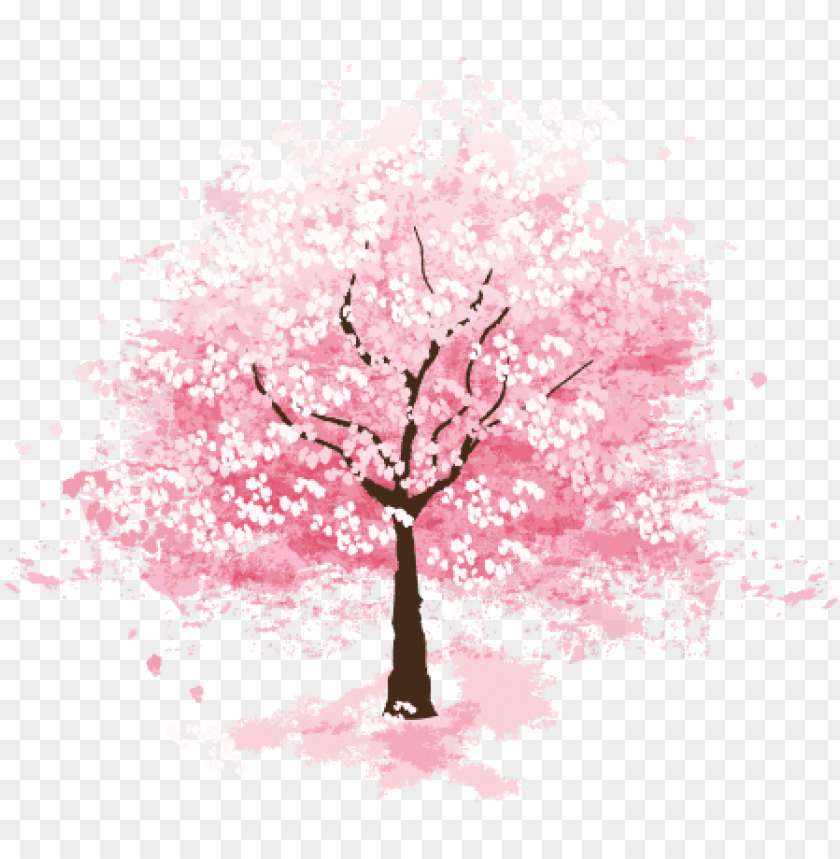 free PNG sakura tree flower picturesque surroundings png - cherry blossom tree PNG image with transparent background PNG images transparent