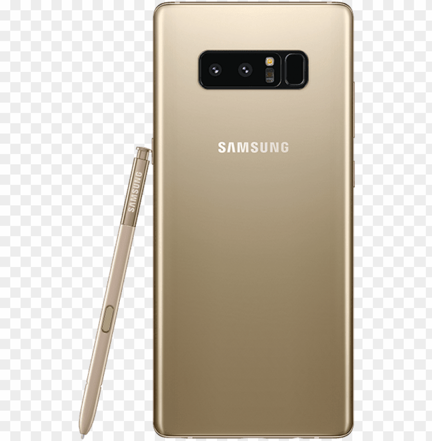 free PNG samsung galaxy note8 64 gb maple gold back - samsung galaxy note 8 (black, 64gb) mobile phone PNG image with transparent background PNG images transparent