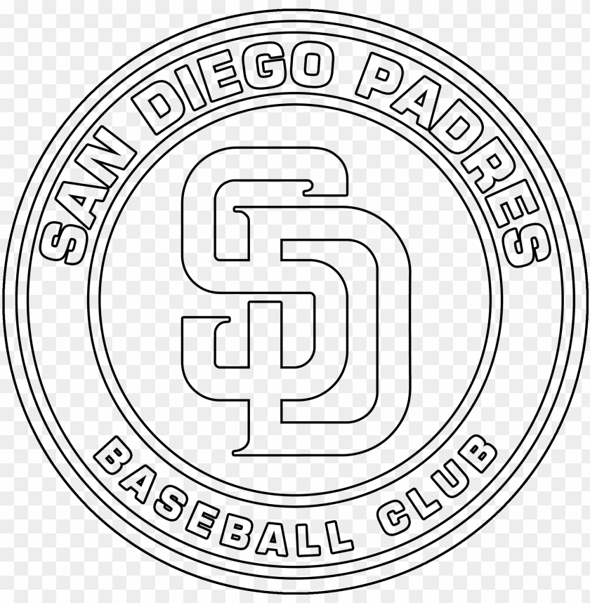 free PNG san diego padres logo coloring page - san diego padres PNG image with transparent background PNG images transparent