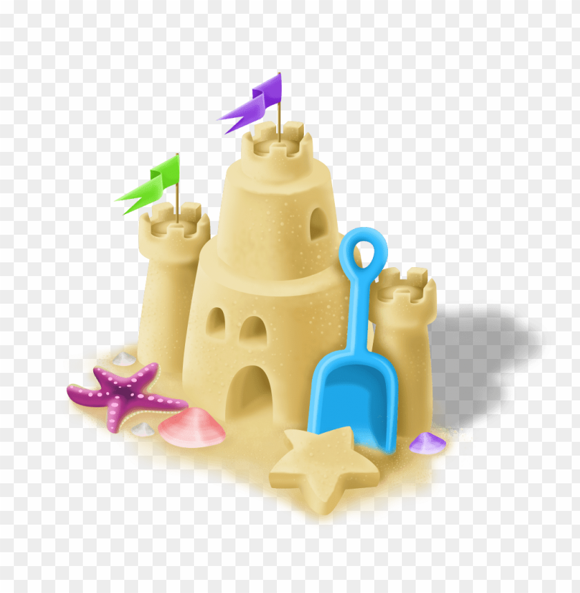 free PNG sand castle with blue spade PNG image with transparent background PNG images transparent