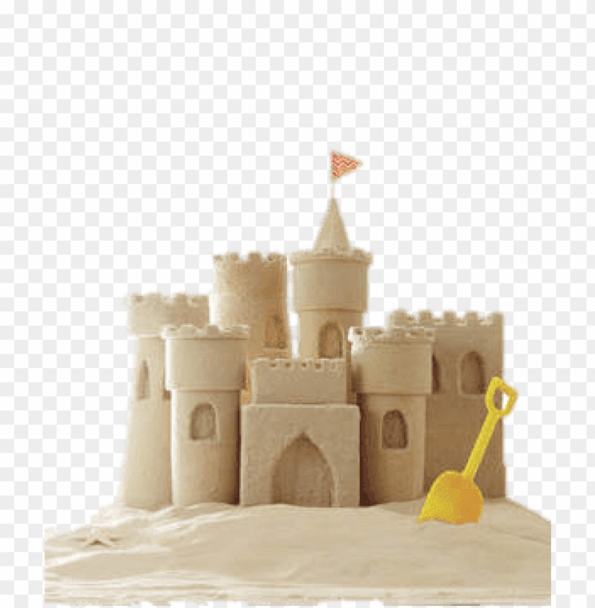 free PNG sand castle yellow spade PNG image with transparent background PNG images transparent