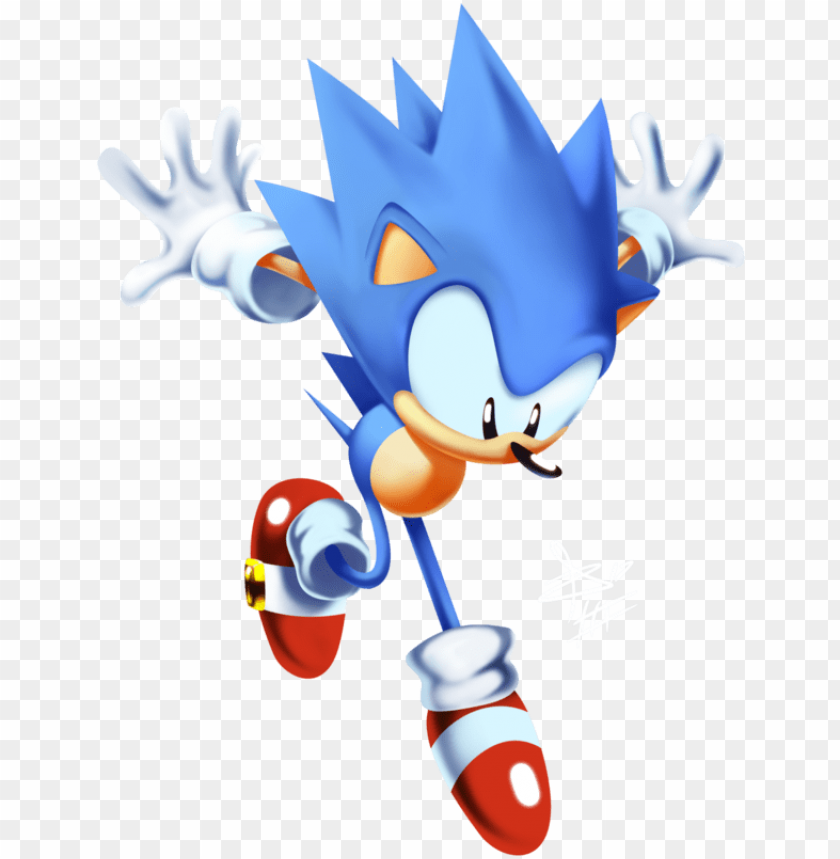 Sanic Drawing Classic Sonic Mania Adventures Sonic Png Image With Transparent Background Toppng