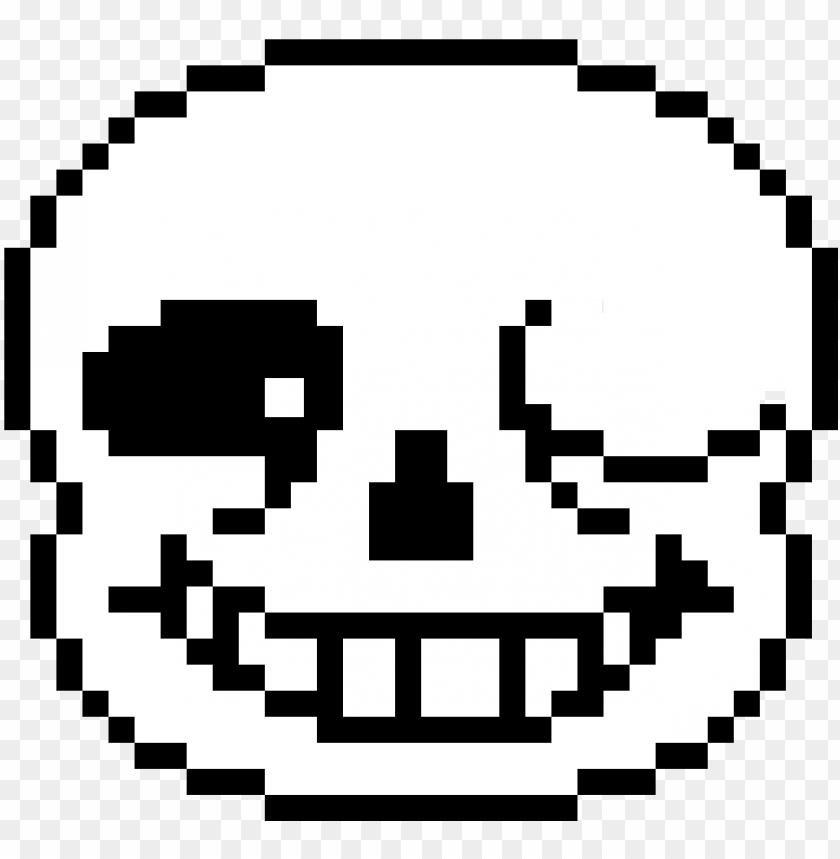 Sans Head Png Sans Pixel Art Png Image With Transparent Background Toppng