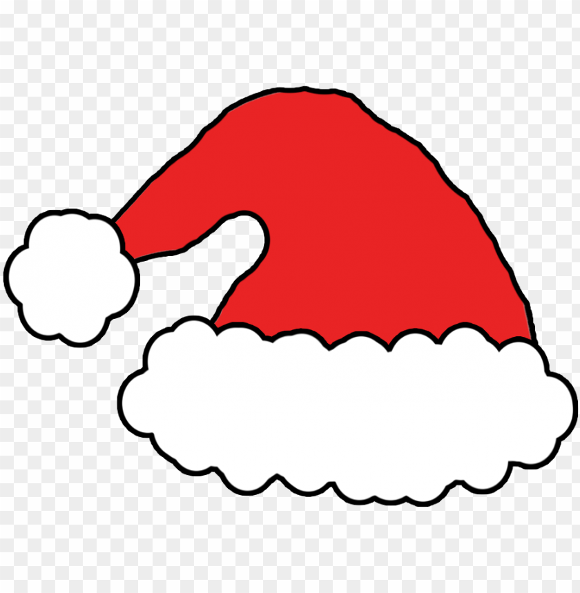 santa hat cartoon drawing PNG Images@toppng.com