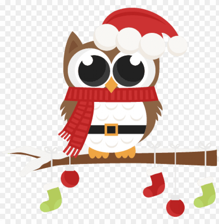free PNG santa owl scrapbook clip art christmas cut outs for - merry christmas owl round ornament PNG image with transparent background PNG images transparent