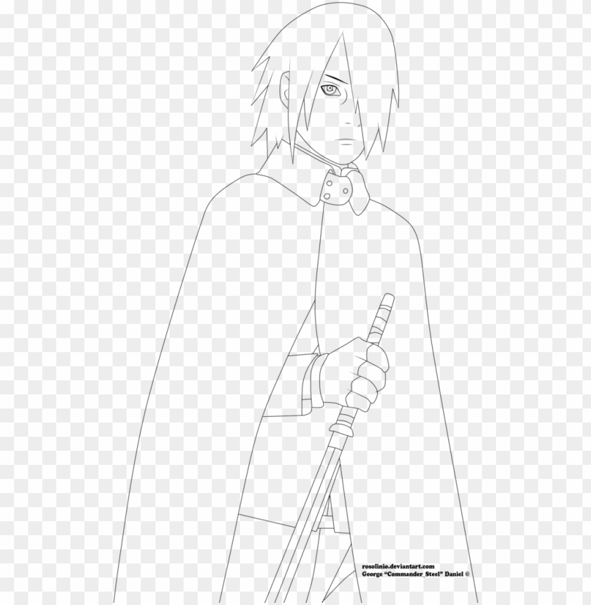free PNG sasuke uchiha boruto the movie lineart by - sasuke uchiha drawing full body PNG image with transparent background PNG images transparent