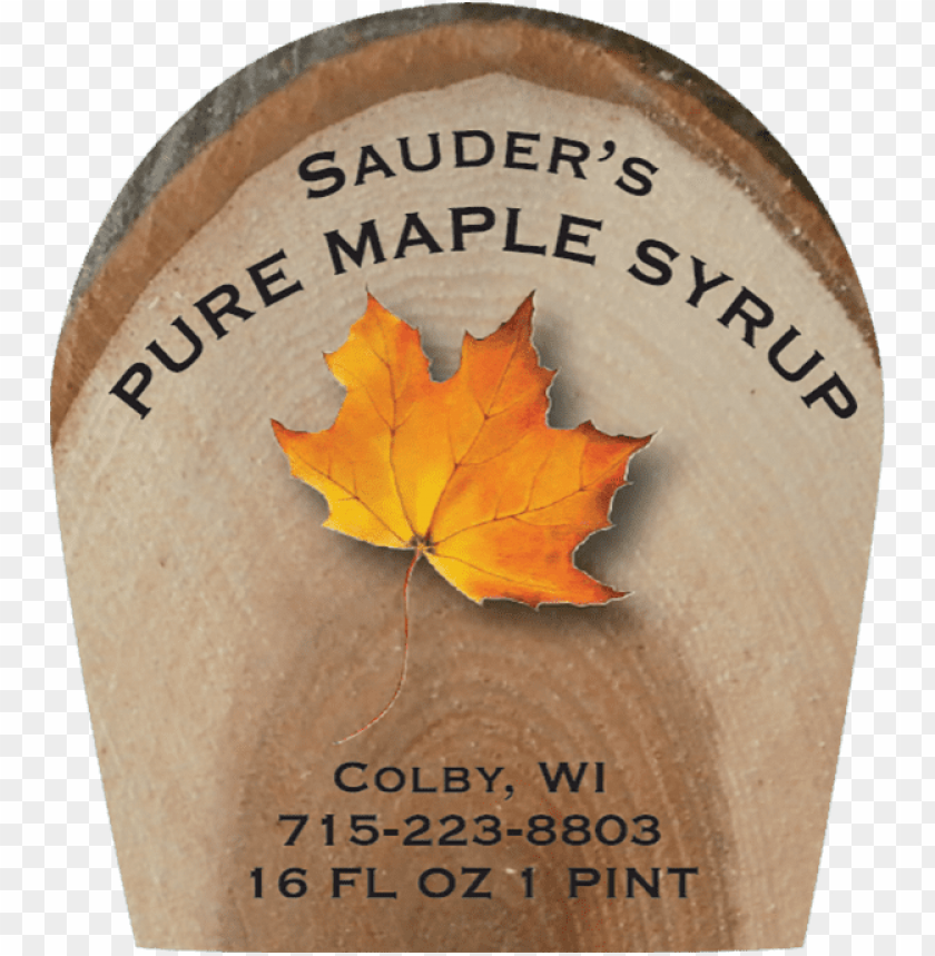free PNG sauders pure maple syrup label - de martino PNG image with transparent background PNG images transparent