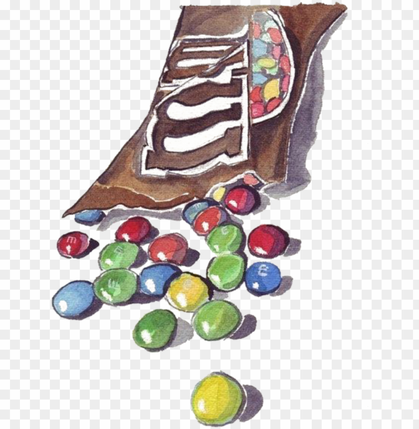 free PNG scbeans beans chocolate bean candy watercolor handpaint - candy and wrapper drawi PNG image with transparent background PNG images transparent