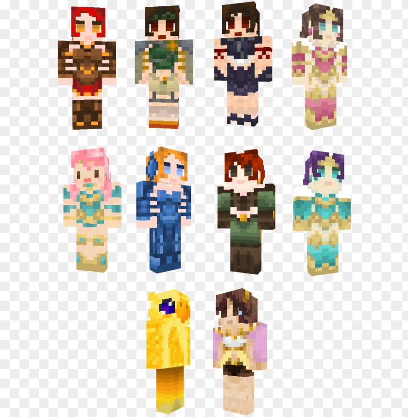 free PNG scene pige minecraft hud - minecraft hd female skins PNG image with transparent background PNG images transparent