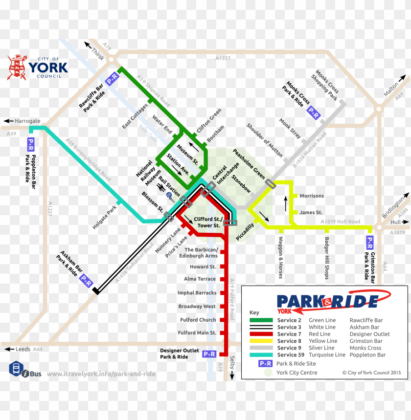free PNG schematic map of york park & ride routes - york park and ride ma PNG image with transparent background PNG images transparent