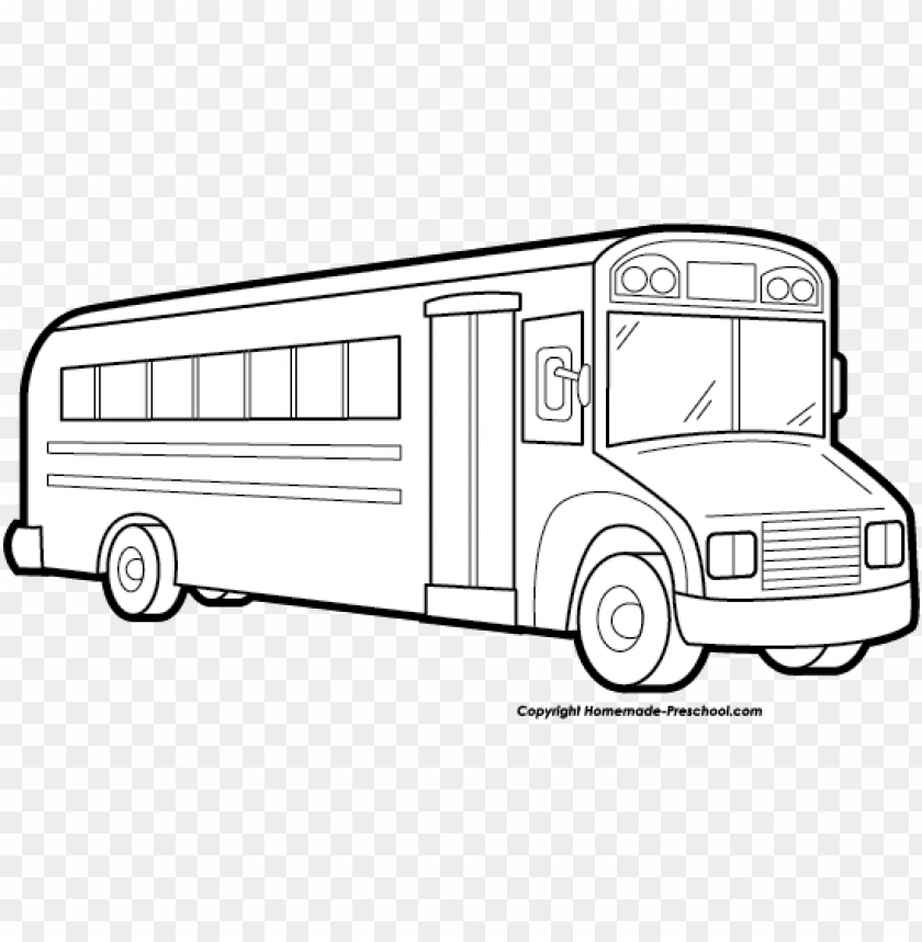 School Bus Clipart Black And White School Bus White Png Image