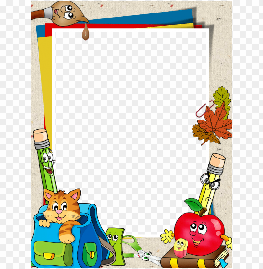 free PNG school clipart border design - borders and frames for school PNG image with transparent background PNG images transparent
