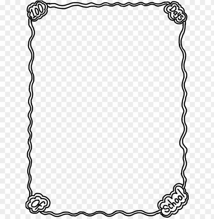free PNG school page borders clipart library 138789 100th day - school full page border PNG image with transparent background PNG images transparent