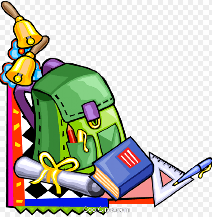 School Supplies Royalty Free Vector Clip Art Illustration Elementary Schooling Cartoo Png Image With Transparent Background Toppng