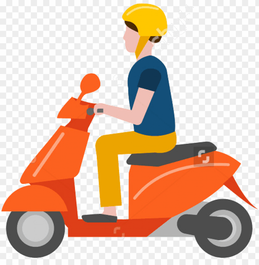 free PNG scooter solo femme - two wheeler blue clipart PNG image with transparent background PNG images transparent