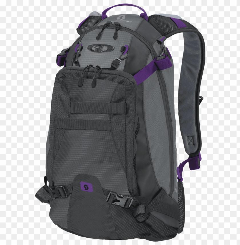 free PNG scott stylish mini tour backpack black & purple png - Free PNG Images PNG images transparent