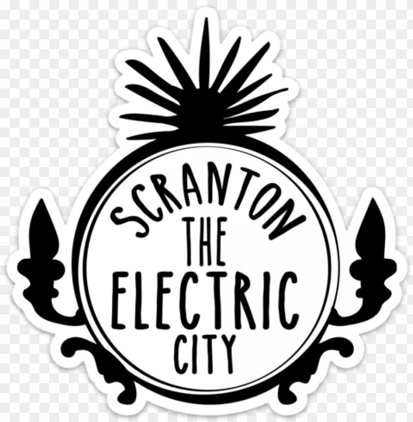 free PNG scranton electric city magnet - scranton the electric city logo PNG image with transparent background PNG images transparent