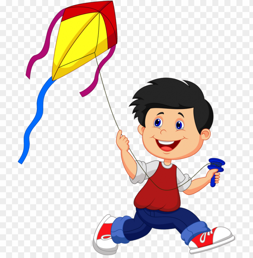 free PNG scrap - boy flying kite PNG image with transparent background PNG images transparent