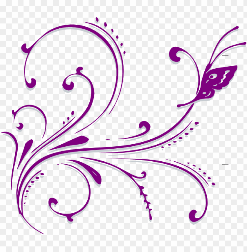 free PNG scroll design clip art - purple butterfly clip art PNG image with transparent background PNG images transparent