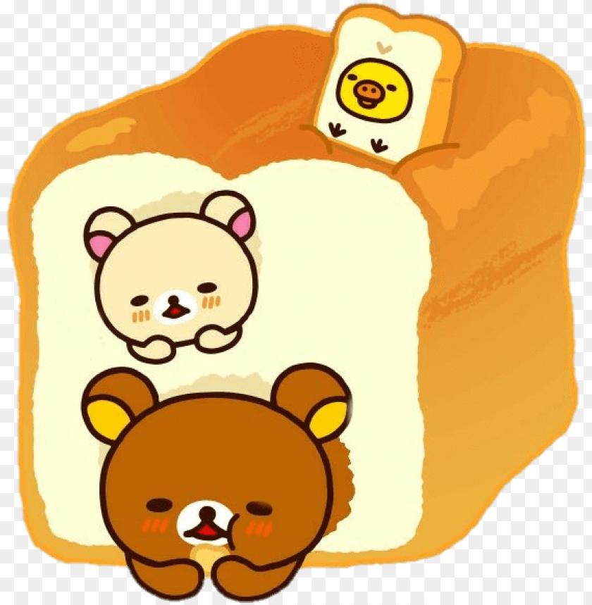 free PNG sctoast toast bread rilakkuma korilakkuma kiiroitori - rilakkuma bakery PNG image with transparent background PNG images transparent