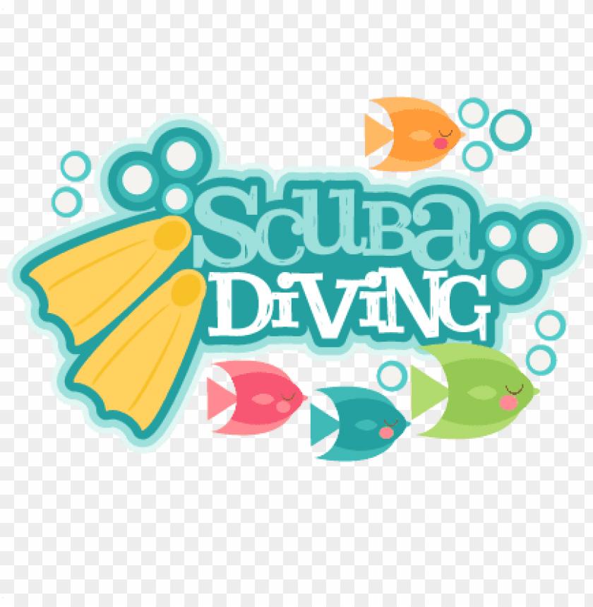 free PNG scuba diving title svg scrapbook cut file cute clipart - scuba diving title PNG image with transparent background PNG images transparent