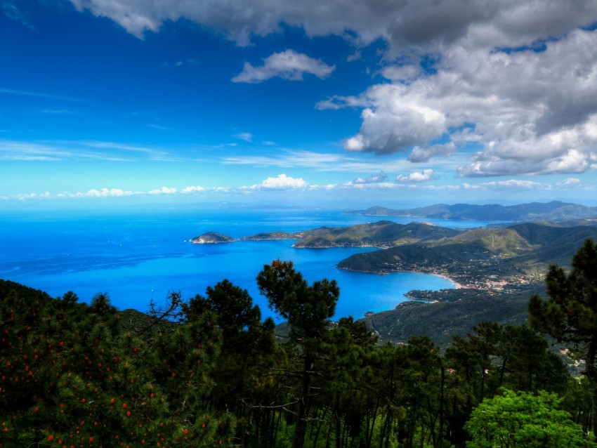 free PNG sea, mountains, aerial view, landscape, italy background PNG images transparent