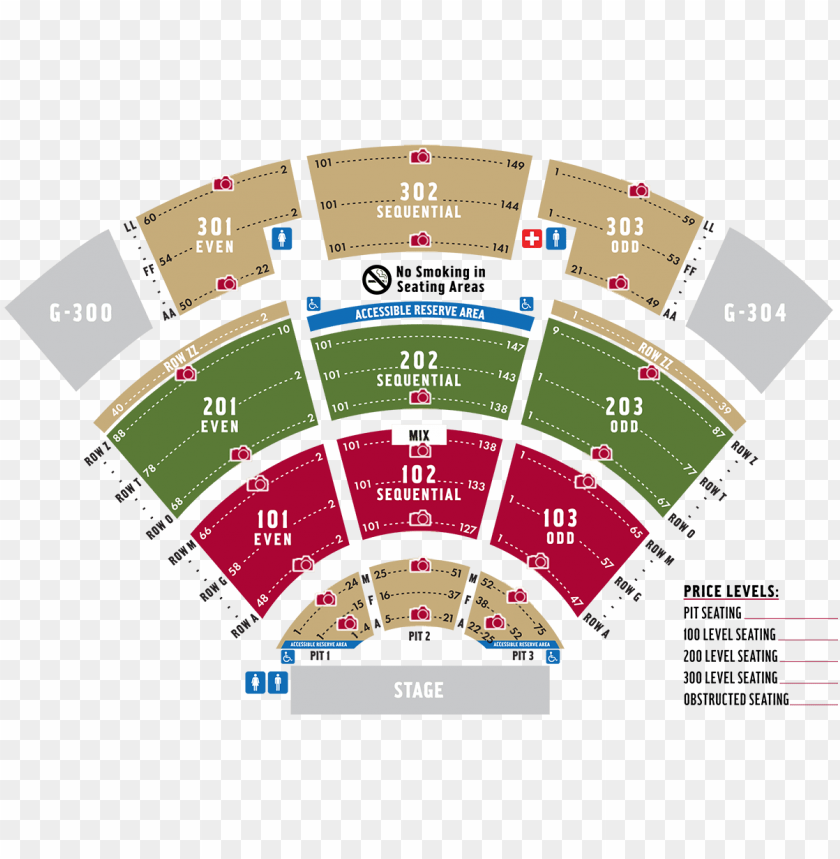 free PNG seating chart - pavilion at toyota music factory seating chart PNG image with transparent background PNG images transparent