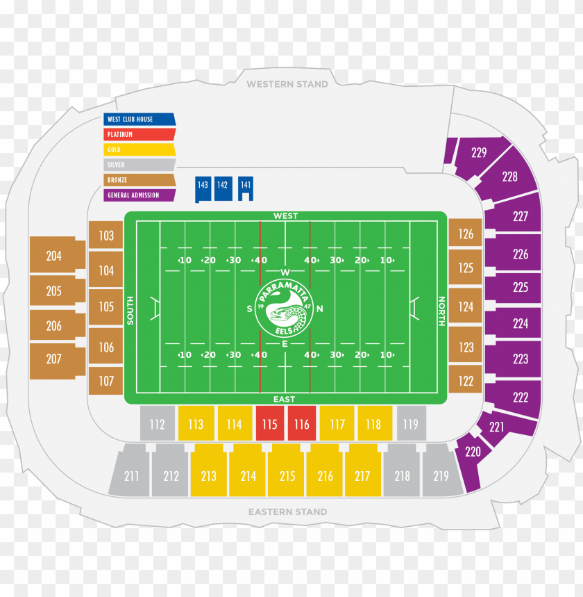 seating map - western sydney stadium seating pla PNG image with transparent background@toppng.com