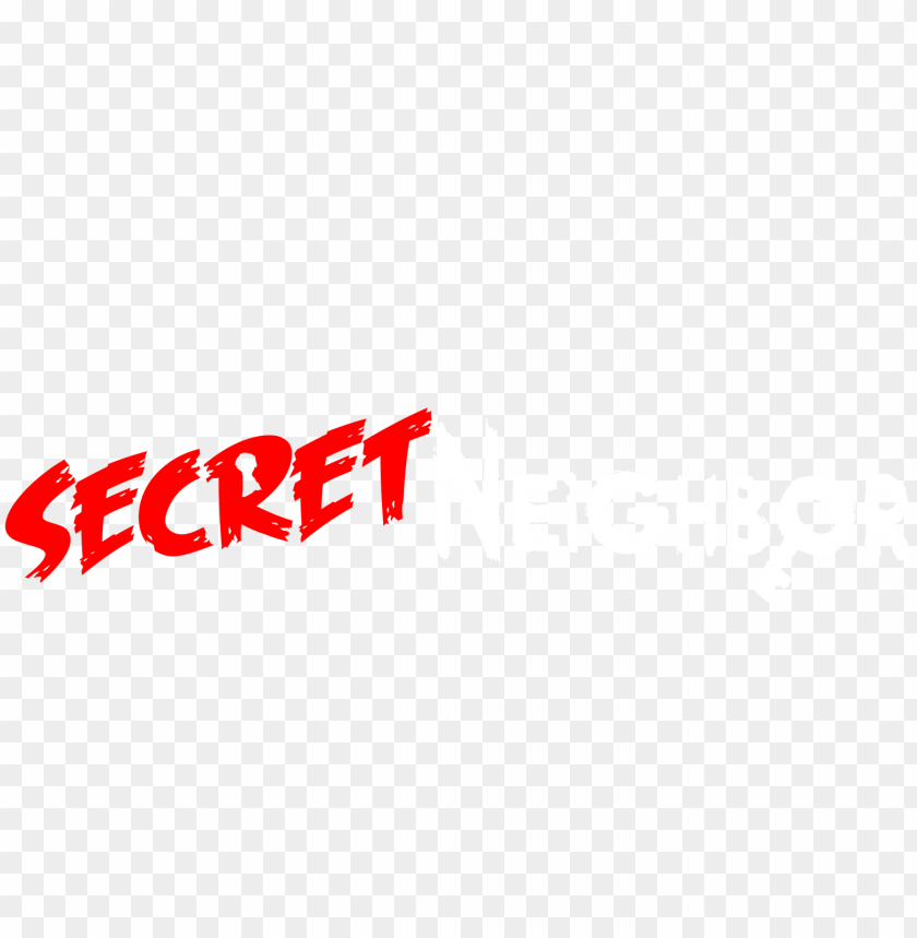 free PNG secret neighbor huge oacity - secret neighbor logo PNG image with transparent background PNG images transparent
