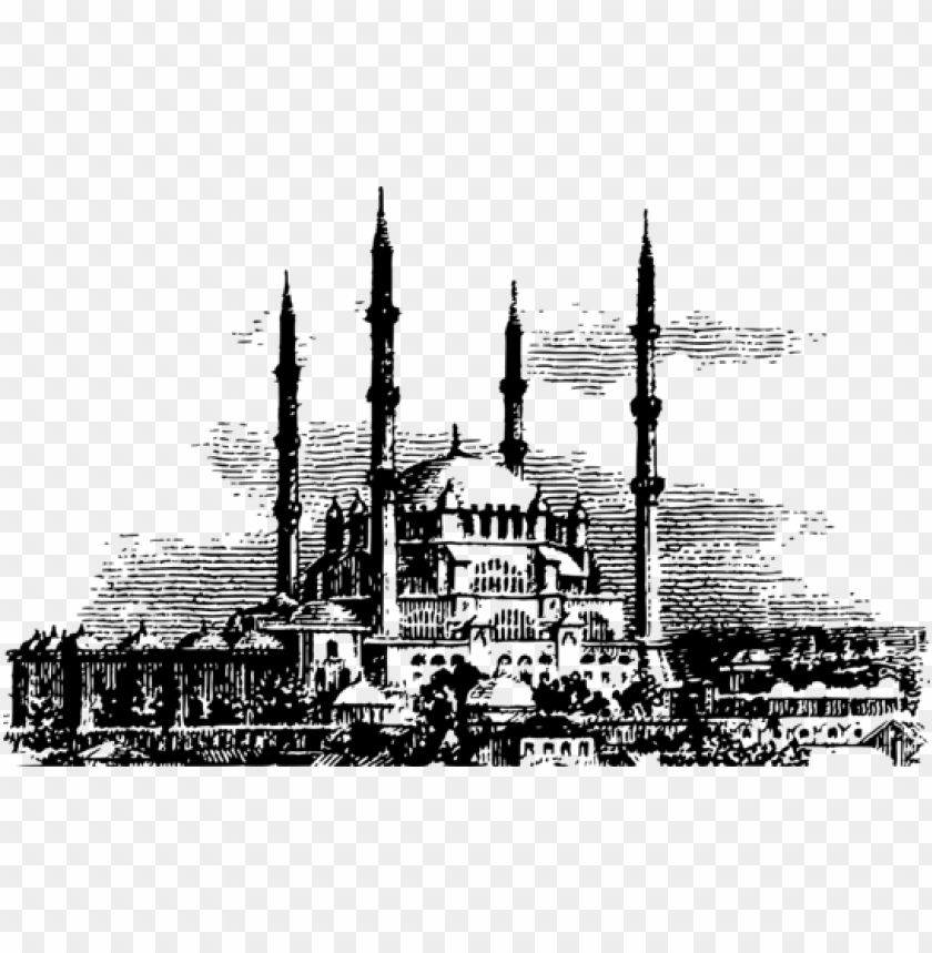 free PNG selimiye mosque islam kaaba hajj - mosque black and white PNG image with transparent background PNG images transparent
