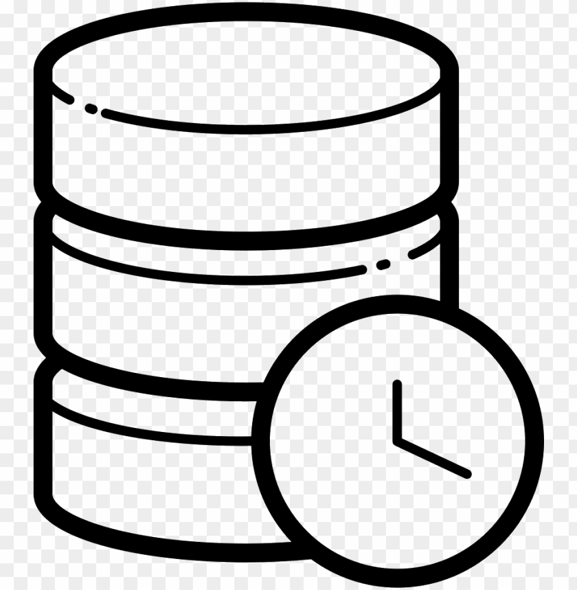 free PNG server clocks and database icon - clock database ico PNG image with transparent background PNG images transparent
