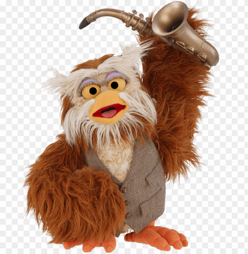 free PNG sesame street hoots the owl with saxophone png - sesame street hoots the owl plush toy PNG image with transparent background PNG images transparent