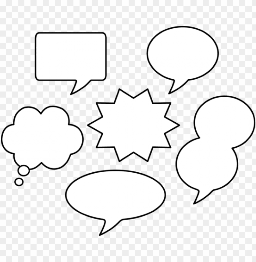 free PNG set of blank comic speech bubbles - comic book bubbles PNG image with transparent background PNG images transparent