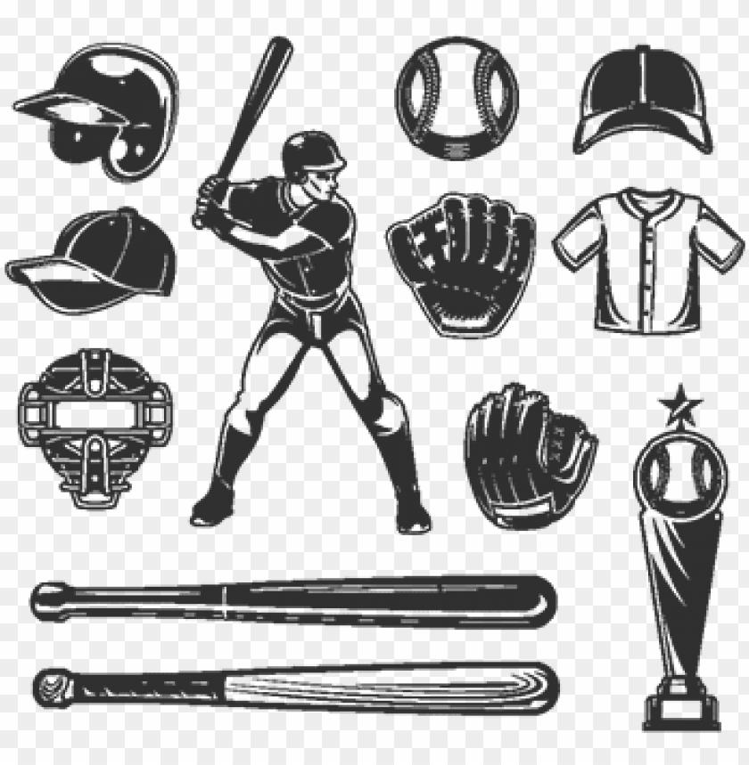 free PNG set of vector baseball icons, baseball, icon, set  - icon png - Free PNG Images PNG images transparent
