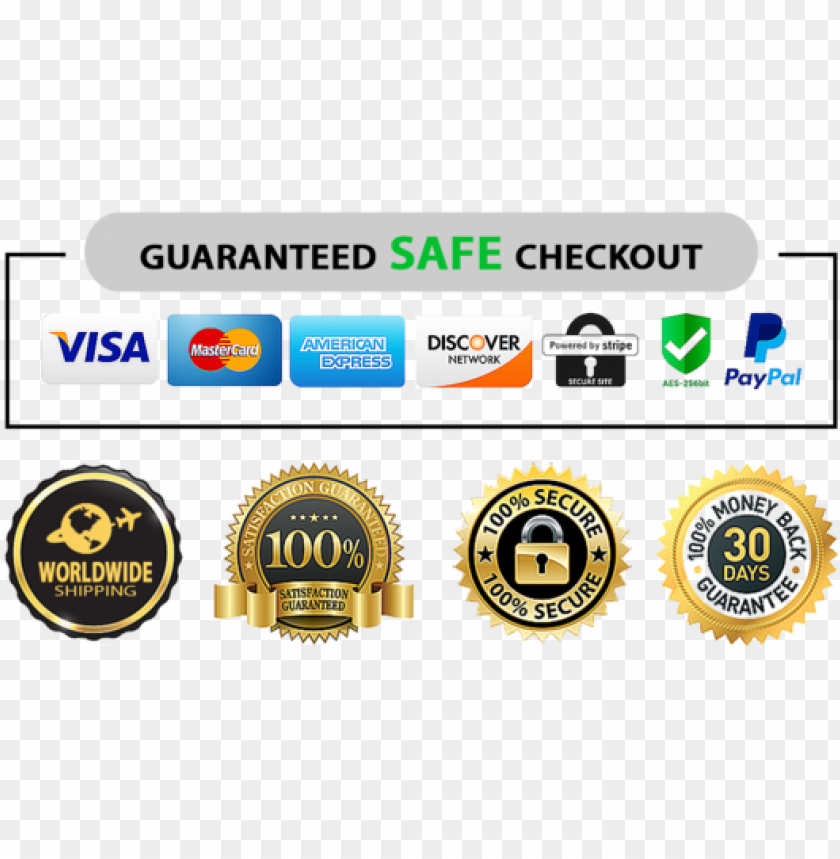 free PNG share share on facebook tweet tweet on twitter pin - trust badges stripe and paypal PNG image with transparent background PNG images transparent
