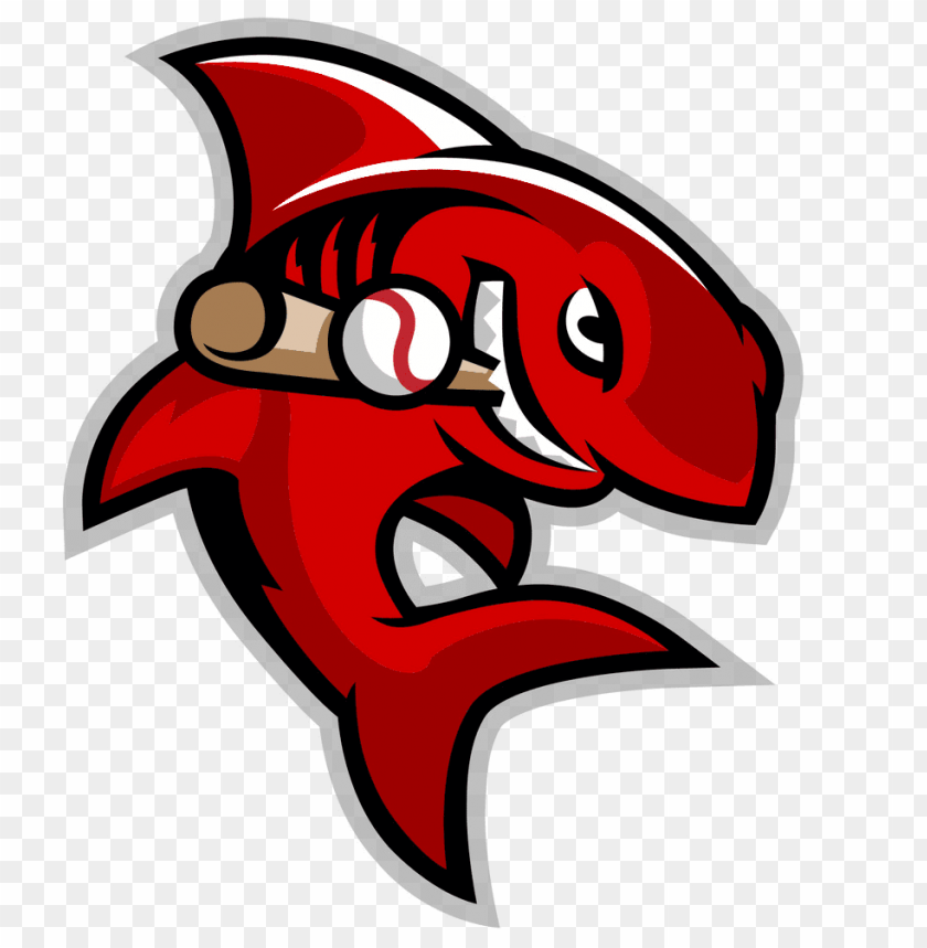 free PNG shark playing baseball clipart - shark baseball logo PNG image with transparent background PNG images transparent