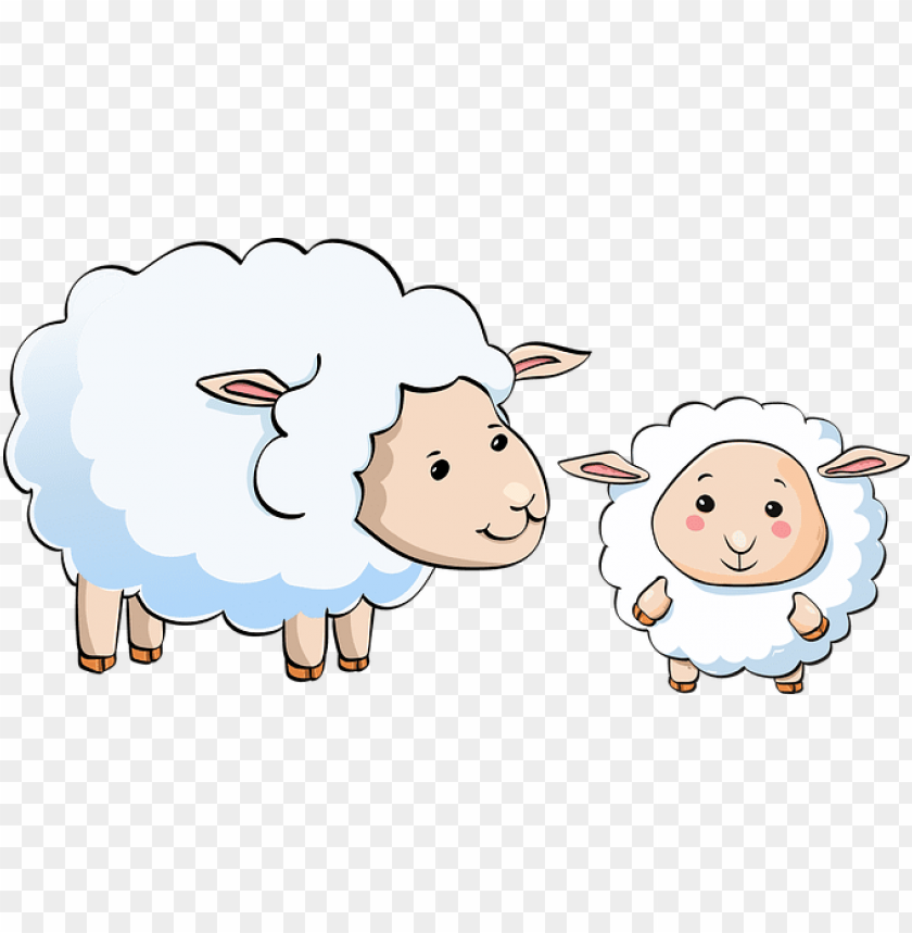 free PNG sheep, lamb, young, animal, cute, kid - male sheep cartoon PNG image with transparent background PNG images transparent