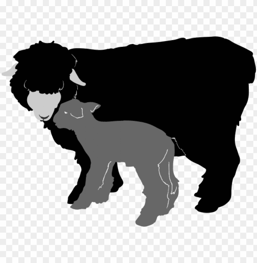 free PNG sheep silhouette clipart - sheep and lamb silhouette PNG image with transparent background PNG images transparent
